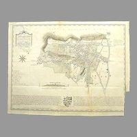 1799 Antique Map of Shaftsbury, Dorset UK