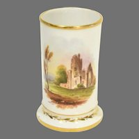 Mid 19th Century Vase with Hand Painted Ruins Scene