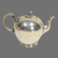 19th C. Britannia Ware Cannon Ball Teapot