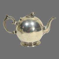 19th C Britannia Ware Cannonball Teapot