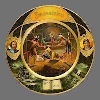 1907  Jamestown Exhibition Tin Litho Plate
