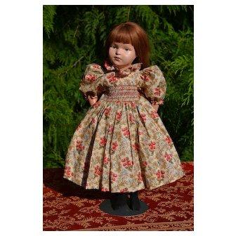 "Romantic Smocked Dress, Puffy Sleeves, Crinoline Petticoat, Fits 19""-22"" (No Doll)"