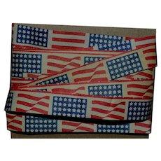 "Vintage Patriotic Flag Paper Ribbon 3 yd x 1/2"" (A)"