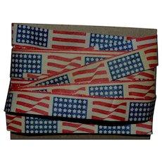 "Vintage Patriotic Flag Paper Ribbon 5 yd x 1/2"" (G)"