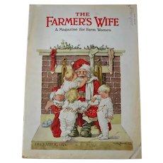 Rare 1924 Children Climb on Santa, C.M.Burd Illustrated Cover, Complete Magazine