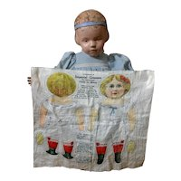 Early 1900's Imperial Granum Uncut Miniature Lithographed Cut and Sew Doll
