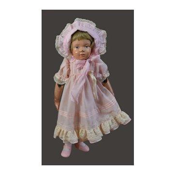 """Vintage Pink Dress and Bonnet for 16"""" Dolls"""
