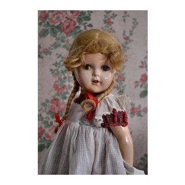 "1930's  22"" McGuffey Ana / Princess Elizabeth Composition Doll, Exc. Cond. Orig Tagged Clothing"