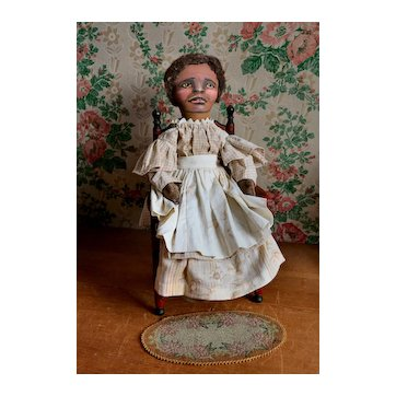"""18"""" Nancy Hanson Artist Signed Hand-Painted Cloth Doll"""