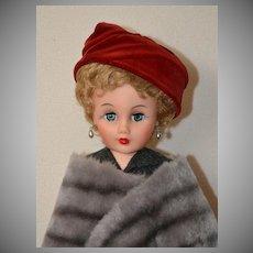 "19"" Vintage 1950's Fashion Doll, 14R Revlon Type, Near Mint"