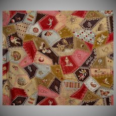 """c1885 Crazy Quilt Cheater Cloth 24"""" wide 4 Yards Available"""