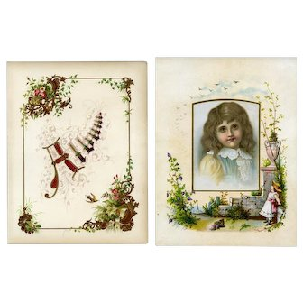 Crystal Soap, Huge Victorian Trade Card + Chromolitho Florals on Album Page