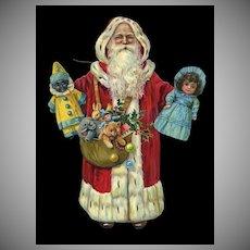 Rare c.1910 Raphael Tuck Santa Claus Diecut Doll or Marionette
