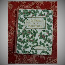 1884 Christmas Gift Book, Holly Berry Covers, Engravings