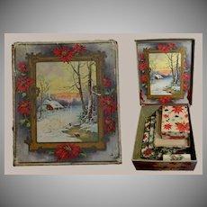 6 Old Christmas Gift Boxes