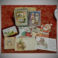13 Pcs Old Christmas Ephemera