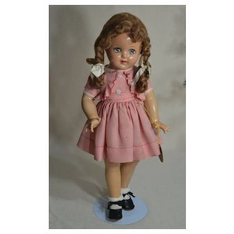 """Vintage 18"""" """"Judy"""" Composition Doll by Sayco, Original Hang Tag & Clothing, Minty"""