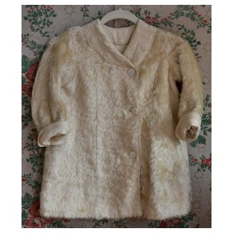 Child / Doll Antique Mohair Coat, Embroidered Trim Exc. Condition (B)