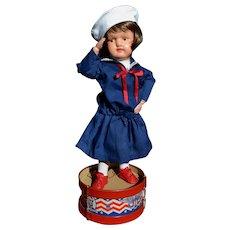 15 in. Patriotic Miss Dolly Schoenhut - Original Minty Face / Body Paint!