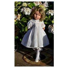 "19"" 308 Schoenhut, Summer Sweetness in All White Dress, Bonnet, Shoes"