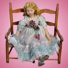 Rare 35 inch Antique Lenci 700 Series Felt Doll, Lovely Original Clothing, Shoes
