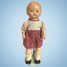 """12"""" Dolly Dingle Composition Doll by Horsman, All Original"""