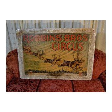 1920's Santa Claus in Fairy Land, Original Robbins Bros Circus Poster