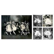 """1924 Little Girls Ballet Recital, """"The French Dolls"""" Original Photos"""