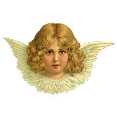 c.1890 Large Angel Die Cut Advertising Scholtz's Store, Denver, CO.