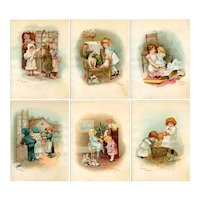 """1895 """"Toyland"""" Book with Dolls inc. 6 Delightful Large Format Color Plates"""