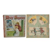 c.1900 Nister Revolving Picture Book, Merry Surprises, Santa on Cover AS IS
