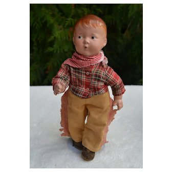 """13"""" Whistling Jim, Composition and Cloth Character Doll"""