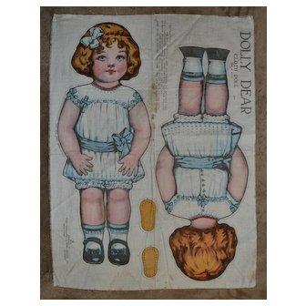 1918 Dolly Dear Uncut Lithograph Cloth Doll