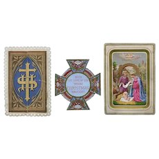 1870 Hold to Light & Die Cut Religious Christmas Cards
