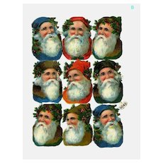 Antique German Santa Claus Die Cuts Sheet (B)