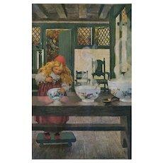 """c. 1920 Jessie Wilcox  Smith """"Goldilocks"""" Scarce Magazine Print"""