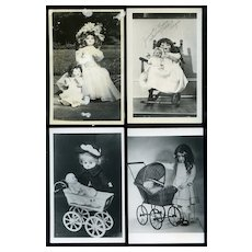 4 Vintage Photos of Antique Dolls/Carriages, Jeanette Mowery Coll. Others #30
