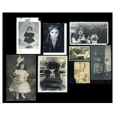 Group of 8 Antique Photos with Dolls #32