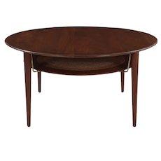 Model FD 515 Teak & Wicker Coffee Table by Peter Hvidt & Orla Mølgaard Nielsen