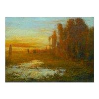 """September Harmony"" Tonalist Painting Oil on Canvas by Karl Emil Termöhlen"