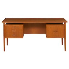 Danish Modern Teak Floating Top Writing Desk by Bornholm, circa 1960s
