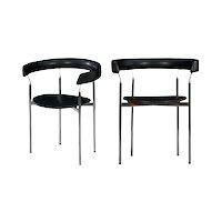 """Pair of Steel """"Rondo"""" Chairs by Jan Lunde Knudsen for Sorlie Møbler"""