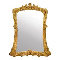 19th Century Thistle-Carved Giltwood Mirror, probably Scottish