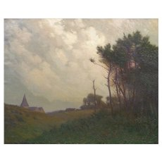 """Landscape in Normandy"" American Impressionism Painting by William J. Kaula"