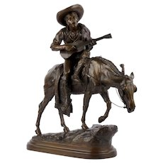 """Spanish Rider"" Antique French Bronze Sculpture by Isidore Bonheur, cast by Peyrol foundry"