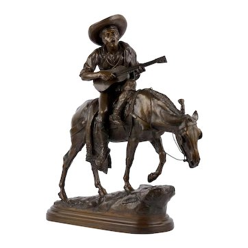 """""""Spanish Rider"""" Antique French Bronze Sculpture by Isidore Bonheur, cast by Peyrol foundry"""