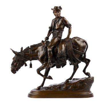 """""""Spanish Rider"""" Antique French Bronze Sculpture by Isidore Bonheur & Peyrol"""
