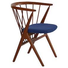 "Helge Sibast ""No. 8"" Danish Mid Century Modern Spindle Back Arm Chair circa 1960s"