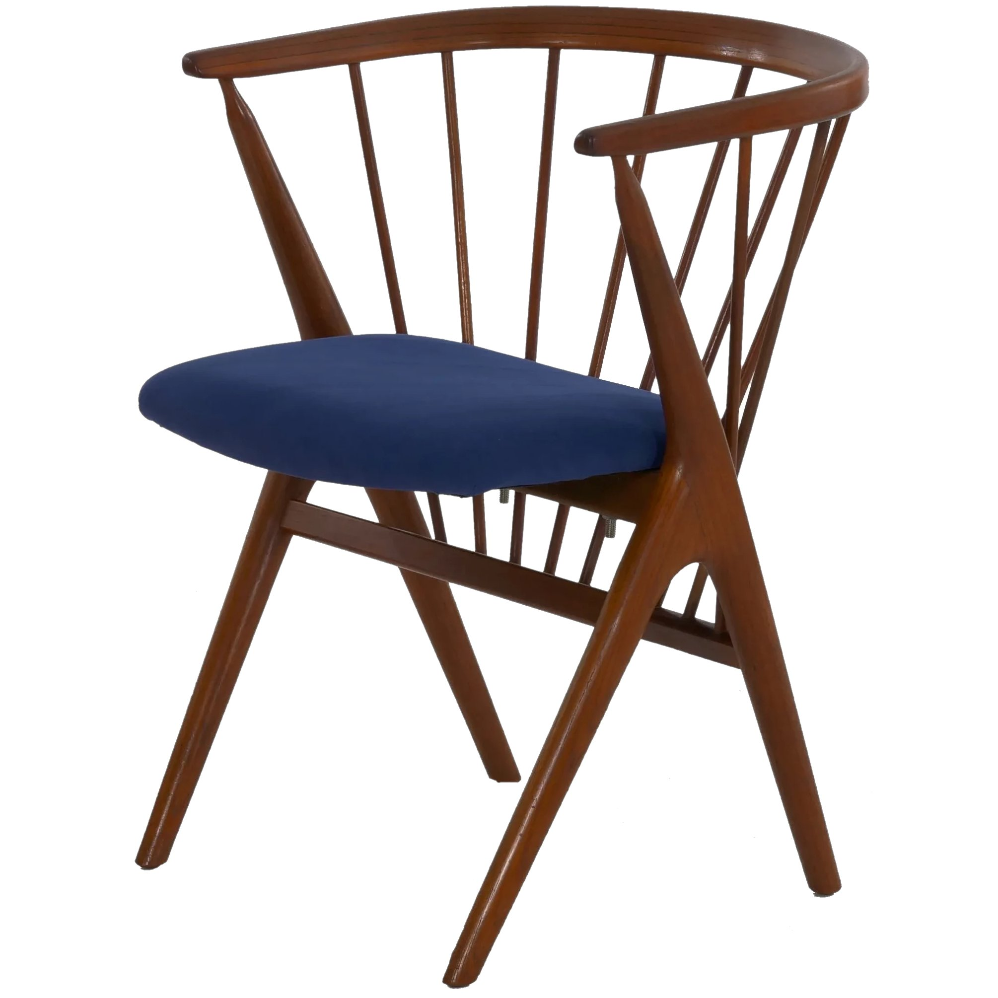 Picture of: Danish Mid Century Modern Spindle Back Arm Chair No 8 By Helge Silla Ltd Ruby Lane