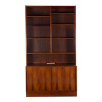 Danish Mid-Century Modern Rosewood Bookcase over Cabinet by Poul Hundevad
